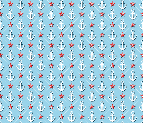 Anchors Away fabric by wrkdesigns on Spoonflower - custom fabric