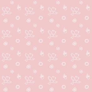Spring bird & flower pink