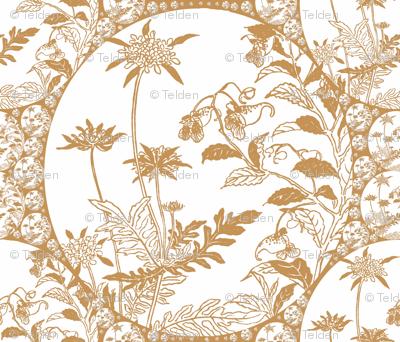 Floral Japonica - Tan