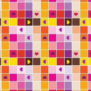 Colorblocks - Warm Hearts - © PinkSodaPop 4ComputerHeaven.com
