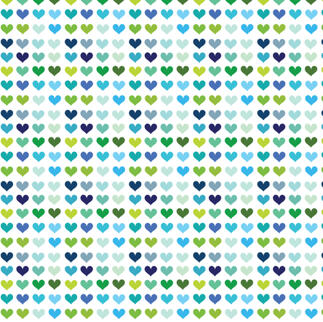 Cool Hearts! - © PinkSodaPop 4ComputerHeaven.com fabric by pinksodapop on Spoonflower - custom fabric