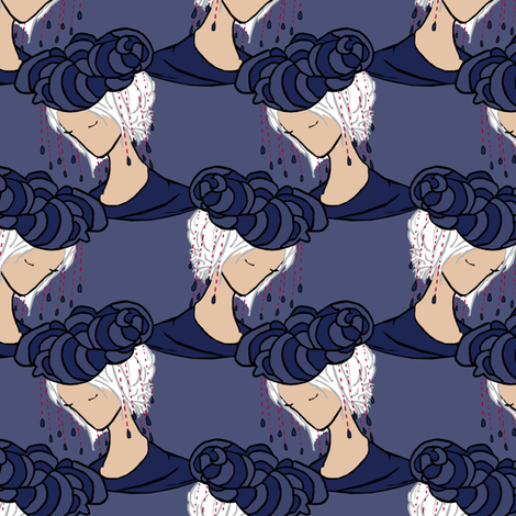 She Dreams of Rain fabric by pond_ripple on Spoonflower - custom fabric