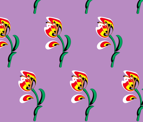 Tulip fabric by retroretro on Spoonflower - custom fabric