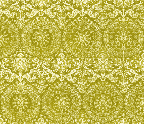 Catherine of Aragon ~ Moss fabric by peacoquettedesigns on Spoonflower - custom fabric