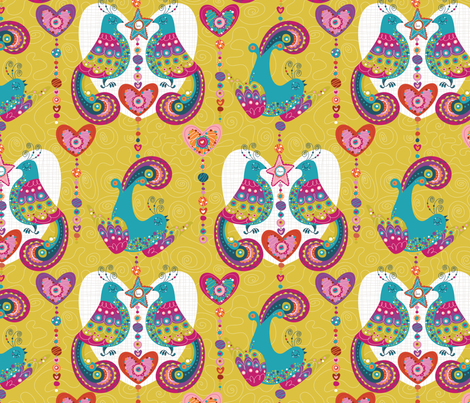 Littlest Birds fabric by cynthiafrenette on Spoonflower - custom fabric