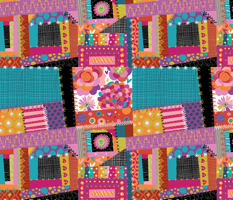 Crazy Quilt fabric by cynthiafrenette on Spoonflower - custom fabric