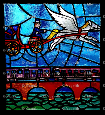 Pegasus Stained Glass 2