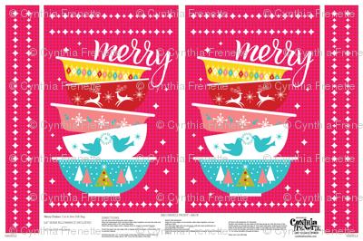 Holiday Gift Bag - Christmas Dishes