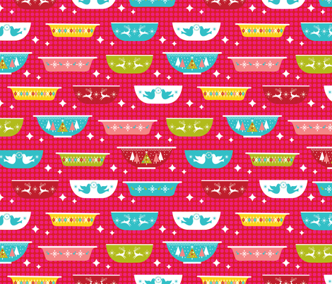 Christmas Dishes fabric by cynthiafrenette on Spoonflower - custom fabric