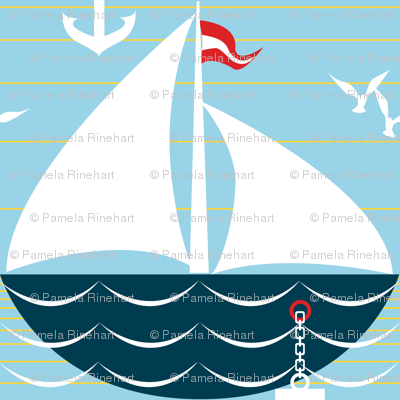 palette restricted sailing ship scallop