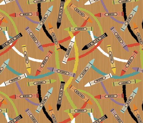 Crayons! fabric by cynthiafrenette on Spoonflower - custom fabric