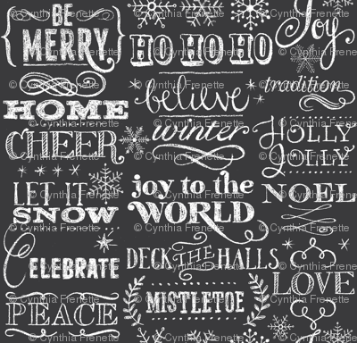 Christmas Sayings, Chalkboard