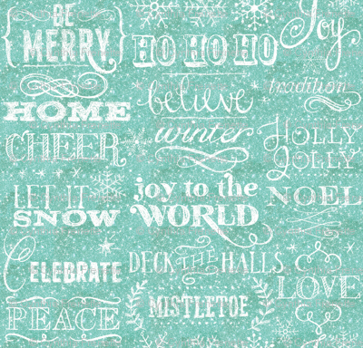 Christmas sayings, Ice Blue