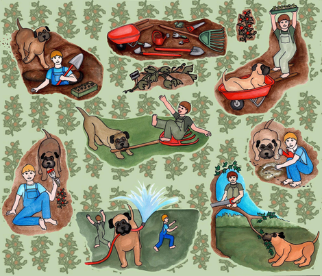 gardening_with_boys fabric by roxiespeople on Spoonflower - custom fabric