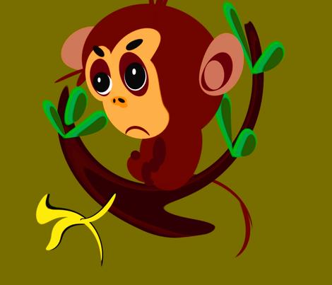Monkey Big fabric by retroretro on Spoonflower - custom fabric