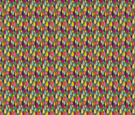 Rainbow Tears on grey fabric by heidikenney on Spoonflower - custom fabric