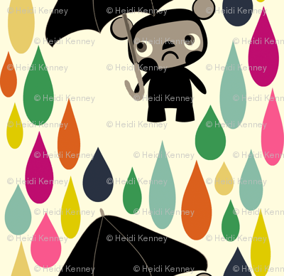 Cry Baby Bear Rainbow Rain