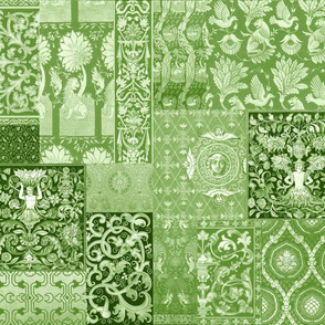 Henry VII Was A Cheater ... Quilt ~ Moss Green