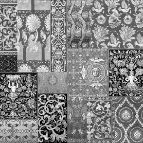 Henry VII Was A Cheater ... Quilt ~ Black and White