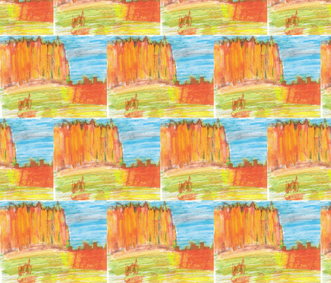 Red Mountains fabric by artist55 on Spoonflower - custom fabric