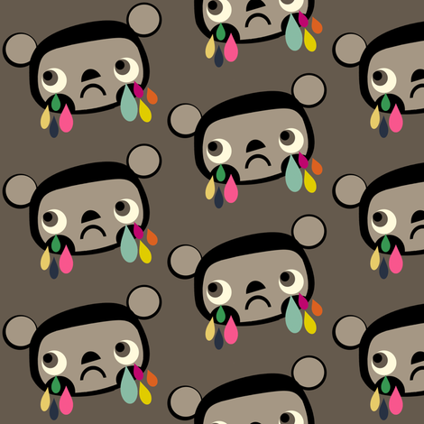 Sad Bear Face fabric by heidikenney on Spoonflower - custom fabric