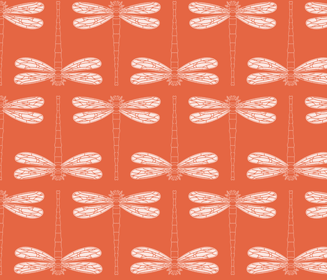 dragonfly in koi new fabric by chantae on Spoonflower - custom fabric