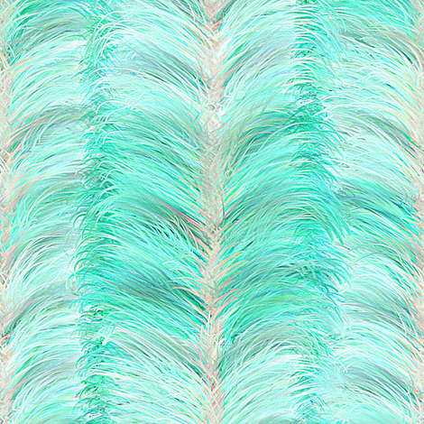 The Feathered Stripe ~ Blue fabric by peacoquettedesigns on Spoonflower - custom fabric
