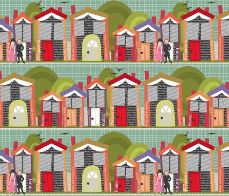 Literally Living in a Jane Austen Novel fabric by scrummy on Spoonflower - custom fabric