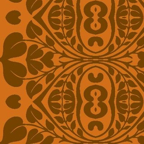 Art Nouveau51-brown/orange