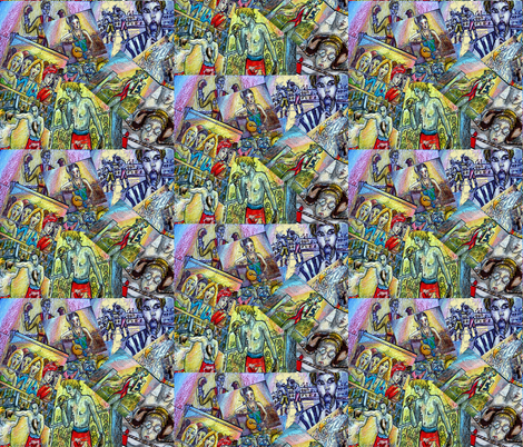 bigfight fabric by angelprint on Spoonflower - custom fabric