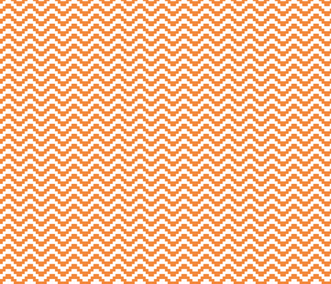 Brick Zigzag - orange fabric by little_fish on Spoonflower - custom fabric