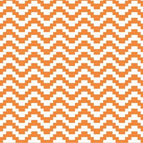 Brick Zigzag - orange