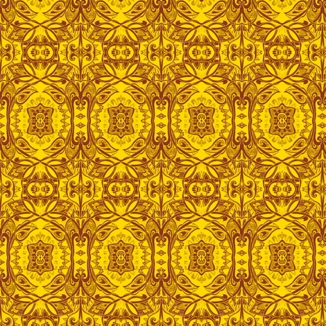 Yellow Daze fabric by edsel2084 on Spoonflower - custom fabric