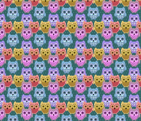country owls fabric by krs_expressions on Spoonflower - custom fabric