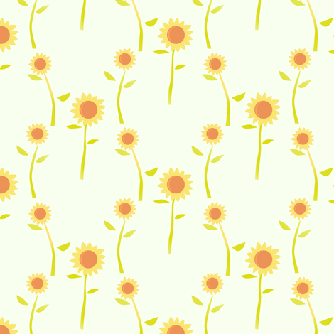 Sunflowers fabric by alfabesi on Spoonflower - custom fabric