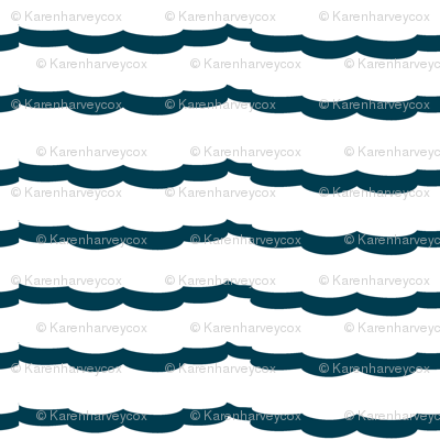Nautical Blue Scallops
