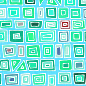 aqua mosaic