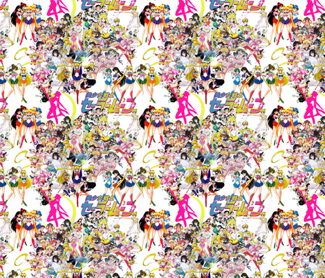 Sailormoon ditsy fabric by retropopsugar on Spoonflower - custom fabric