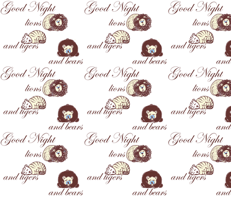 lions_and_tigers_and_bears fabric by katrina_ward on Spoonflower - custom fabric