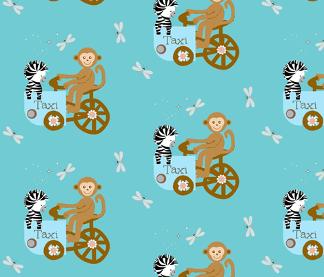 Funday taxi fabric by paragonstudios on Spoonflower - custom fabric