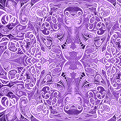 The Day the World Turned Lavender fabric by edsel2084 on Spoonflower - custom fabric