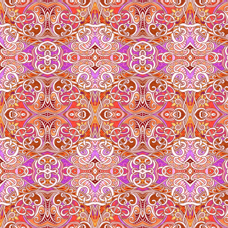 World of Orange and Curly fabric by edsel2084 on Spoonflower - custom fabric