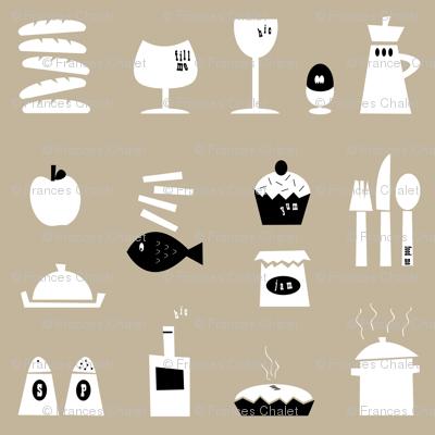 Kitchenalia in Mushroom