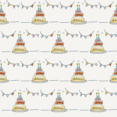 Birthday cake fabric by luluburket on Spoonflower - custom fabric