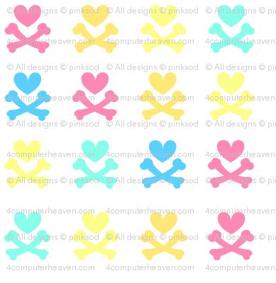Heartskulls v 2.0 - Beachy Vibes  - © PinkSodaPop 4ComputerHeaven.com