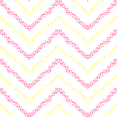 Chevron Sticks & Stones - Beachy Vibes  - © PinkSodaPop 4ComputerHeaven.com fabric by pinksodapop on Spoonflower - custom fabric