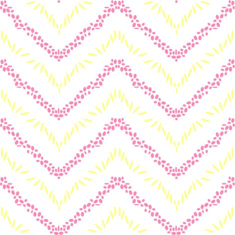 Chevron Sticks & Stones - Beachy Vibes  - © PinkSodaPop 4ComputerHeaven.com fabric by pinksodapop on Spoonflower - custom fabric