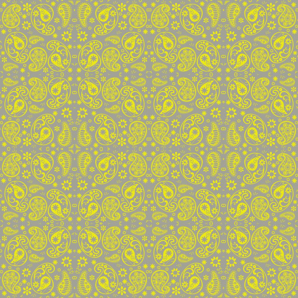 Yellow Paisley Wallpaper