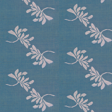 Twin Lotus - blue, pink fabric by materialsgirl on Spoonflower - custom fabric