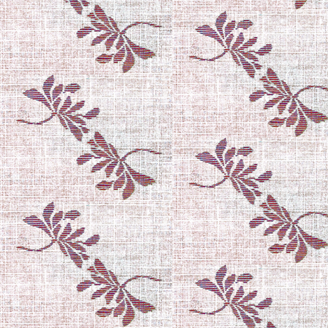 Twin Lotus- plum wine/white fabric by materialsgirl on Spoonflower - custom fabric
